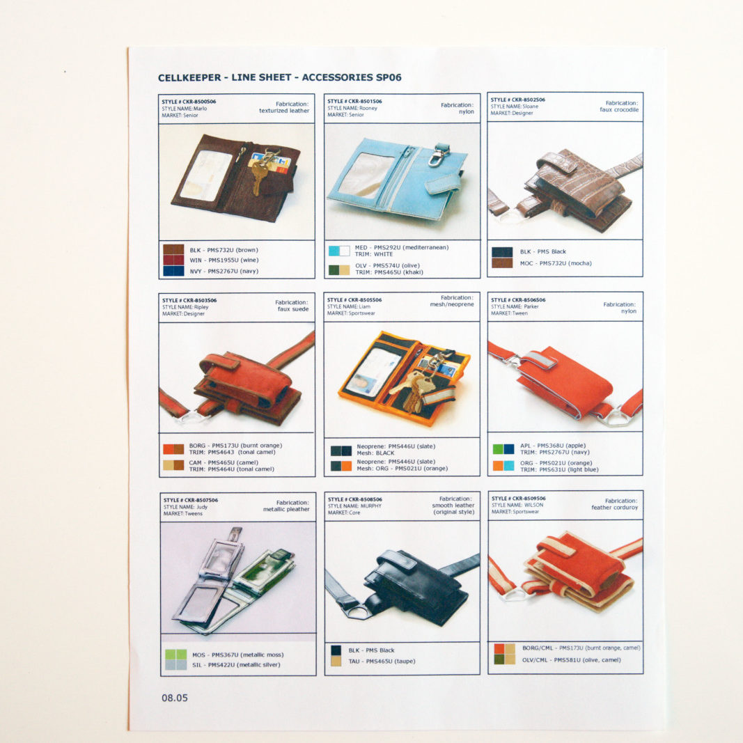 Cellkeeper line sheet