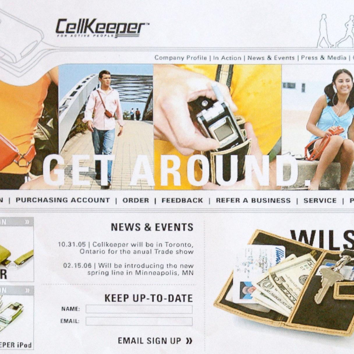 screen cap of Cellkeeper website